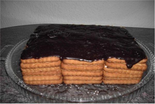 Торт из печенья и творога фоторецепт